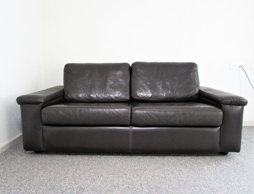 Dutch Leather Two Seater Sofa By Jan Des Bouvrie For De Ster