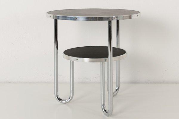 Small German Loop Side Table From Mauser Werke Waldeck 1950s