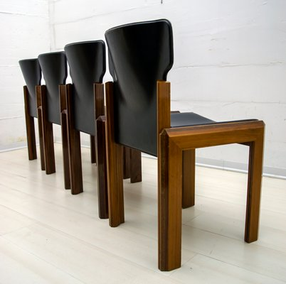 Italian Modern Leather Dining Chair By Luciano Frigerio 1980s For Sale At Pamono