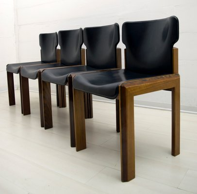 Groovy Italian Modern Leather Dining Chair By Luciano Frigerio 1980S Ncnpc Chair Design For Home Ncnpcorg