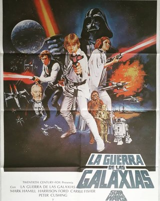 Spanish Star Wars Rerun Film Poster, 1986 bei Pamono kaufen