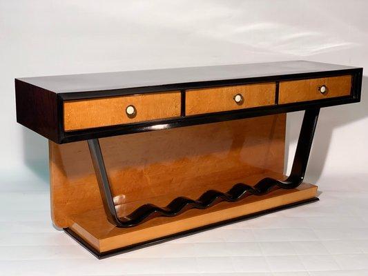 Marvelous Art Deco Low Console Table With Drawers Inzonedesignstudio Interior Chair Design Inzonedesignstudiocom