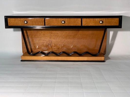 Pleasing Art Deco Low Console Table With Drawers Inzonedesignstudio Interior Chair Design Inzonedesignstudiocom