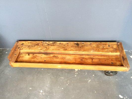 Vintage Workbench Coffee Table On Wheels From Eta