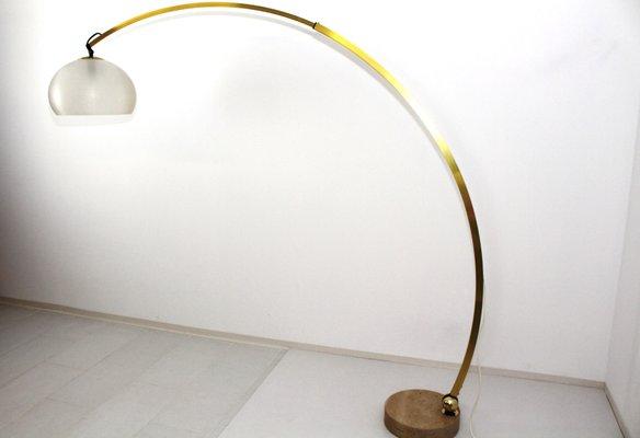 Vintage Italian Arc Floor Lamp By