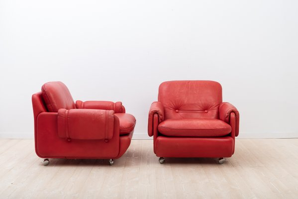 Ikea Poltrone Pelle.Vintage Lombardia Armchairs By Risto Holme For Ikea Set Of 2