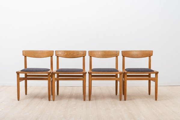 Oak Shaker Style Dining Chairs Table