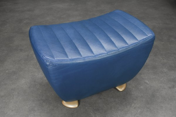 Lounge Stoel Hocker.Leather Balou Lounge Chair With Ottoman By Jane Worthington For
