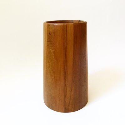 Portaombrelli in legno di teak massiccio, anni \'60