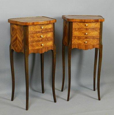 French Kingwood Bedside Cabinets 1920s