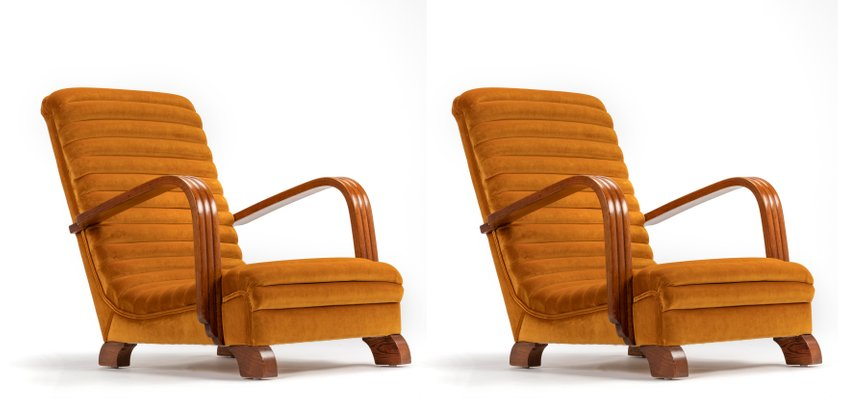 Strange Art Deco Streamline Lounge Chairs By Heals Of London 1930S Set Of 2 Andrewgaddart Wooden Chair Designs For Living Room Andrewgaddartcom