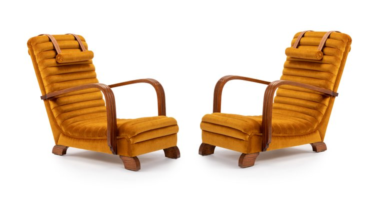 Fantastic Art Deco Streamline Lounge Chairs By Heals Of London 1930S Set Of 2 Andrewgaddart Wooden Chair Designs For Living Room Andrewgaddartcom