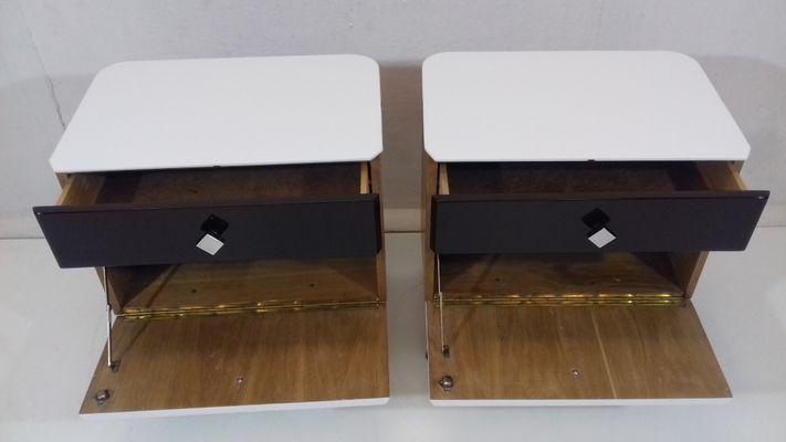 2 Tables Vintage pour Chevet UP par Jindřich de de Halabala Závody1951Set exrBdCo