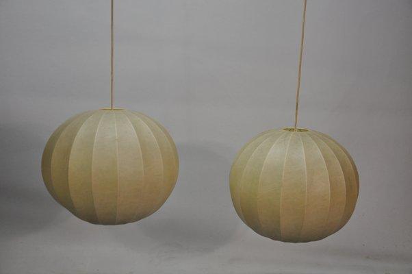 Design Achille Castiglioni.Vintage Cocoon Suspension Lamp By Achille Castiglioni For Flos