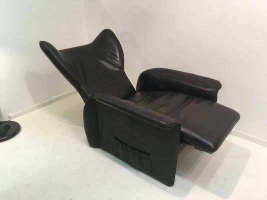 Terrific Vintage Black Leather Elephant Lounge Chair By Walter Knoll Pabps2019 Chair Design Images Pabps2019Com
