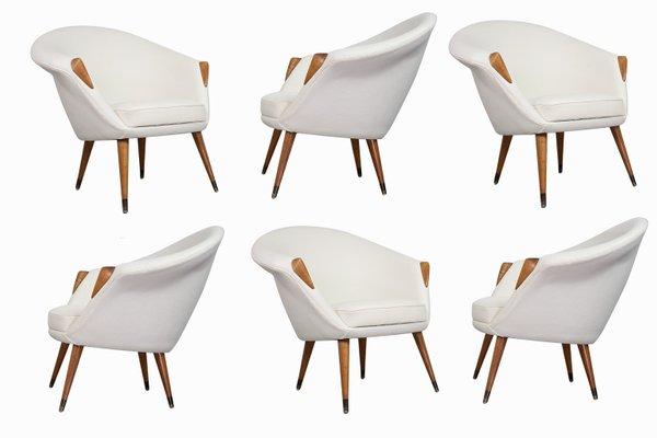 Superb Scandinavian Modern Off White Sculptural Lounge Chair 1950S Theyellowbook Wood Chair Design Ideas Theyellowbookinfo
