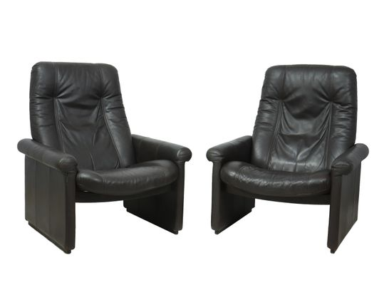 Awesome Ds50 Reclining Armchairs From De Sede 1970S Set Of 2 Bralicious Painted Fabric Chair Ideas Braliciousco