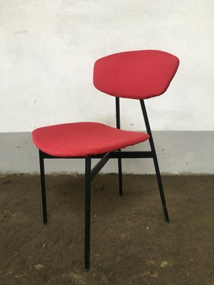 Marvelous Mid Century Italian Modern Black Iron Chairs 1960S Set Of 4 Caraccident5 Cool Chair Designs And Ideas Caraccident5Info