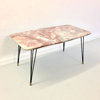 Charmant Mid Century Marble Coffee Table, 1950s
