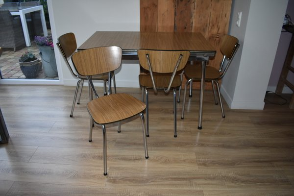 Vintage Formica Dining Set With Table And 4 Chairs 1960s For Sale At Pamono