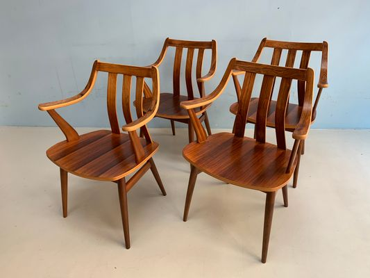 Rosewood Chairs From Pastoe, 1960s, Set Of 4 2