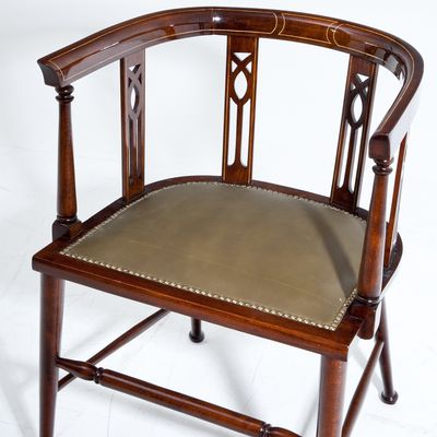 Cool Antique English Desk Chair 1900S Ibusinesslaw Wood Chair Design Ideas Ibusinesslaworg