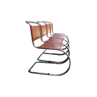 Brown Mr Cantilever Dining Chairs By Ludwig Mies Van Der Rohe 1960s