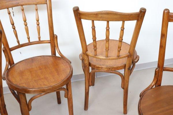 Antike Stühle aus Buche, 1880er, 4er Set