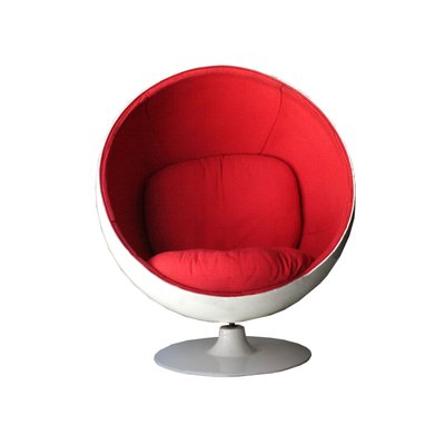 Tremendous Mid Century Modern White Red Ball Chair By Eero Aarnio 1963 Short Links Chair Design For Home Short Linksinfo