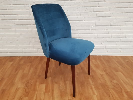 1 of 2 Retro Vintage Danish Beech Desk Side Office Chairs Armchair 60s 70s Oak