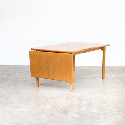 Mesa de comedor abatible de roble de Kurt Østervig para KP Mobler, años 70