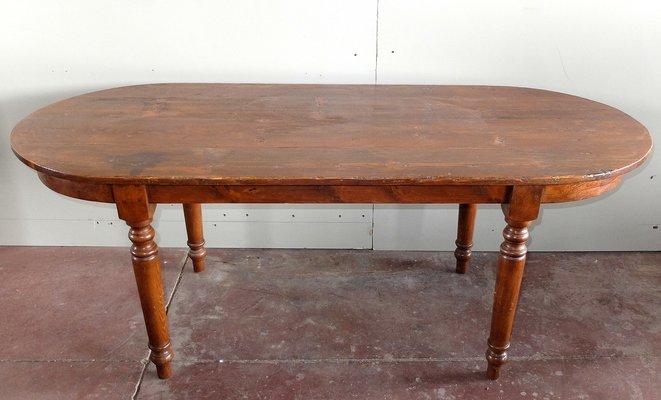 Tavolo Legno Vintage.Tavolo Ovale Vintage In Legno Di Abete
