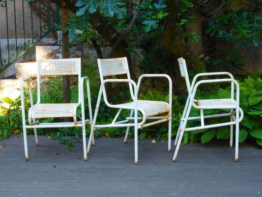 Vintage Perforated Steel Garden Chairs