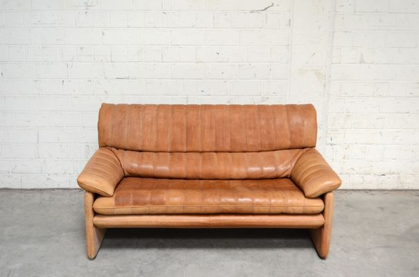 Vintage DS-86 Cognac Leather Sofa from de Sede for sale at Pamono