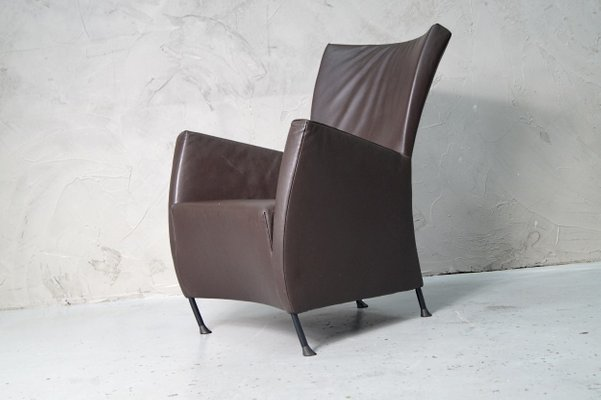 Bank Design Montis.Leather Windy Easy Chair By Gijs Papavoine For Montis 1990s For