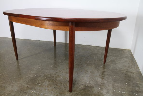 Salle Table Larsen Pour Manger Ib G Extensible Vintage Plan1960s À Par De Kofod dBrCoxe