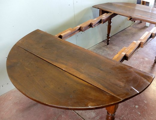 Antique Extendable Walnut Dining Table For Sale At Pamono