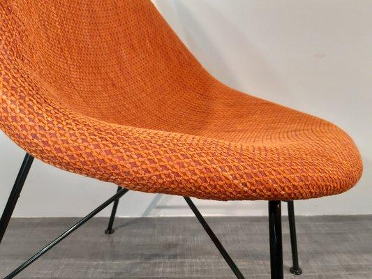 Egg Fireside Chairs By Miroslav Navratil, 1960s, Set Of 2