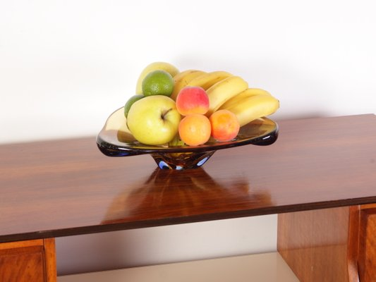 Amber Glass Bowl By Karel Zemek For Mstisov 1960s For Sale At Pamono