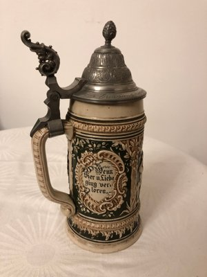 Antique German Beer Stein 1880s For