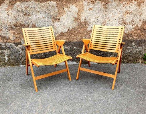 Cool Mid Century Modern Yugoslavian Rex Folding Easy Chairs By Niko Kralj For Stol Kamnik 1960S Set Of 2 Ibusinesslaw Wood Chair Design Ideas Ibusinesslaworg