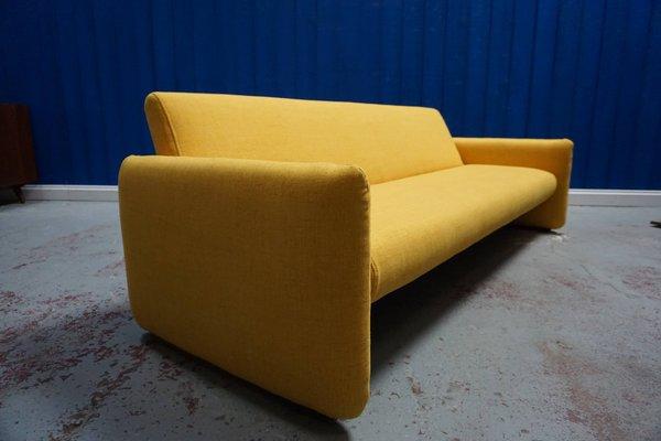 Mid-Century Modern Yellow 3-Seater Sofa Bed, 1960s