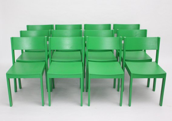 Super Mid Century Green Beechwood Dining Chairs By Carl Aubock 1950S Set Of 6 Pabps2019 Chair Design Images Pabps2019Com