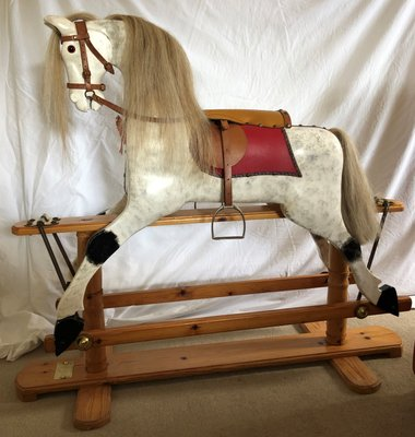 Cavallo A Dondolo Artigianale.Cavallo A Dondolo Vintage In Legno Di T Rimmer Anni 90
