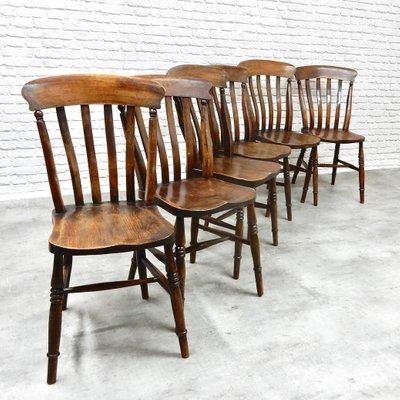 Sedie da cucina antiche, set di 6
