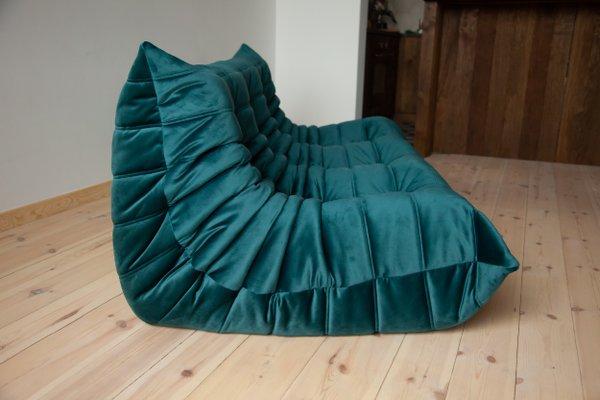 Terrific Teal Velvet Togo 3 Seater Sofa By Michel Ducaroy For Ligne Roset 1970S Inzonedesignstudio Interior Chair Design Inzonedesignstudiocom