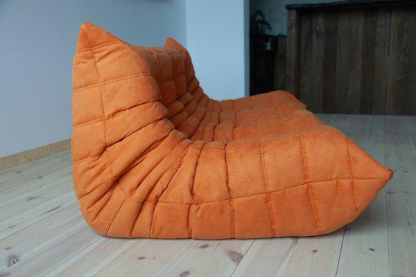 Astonishing Togo Orange Microfiber 3 Seater Sofa By Michel Ducaroy For Ligne Roset 1970S Inzonedesignstudio Interior Chair Design Inzonedesignstudiocom