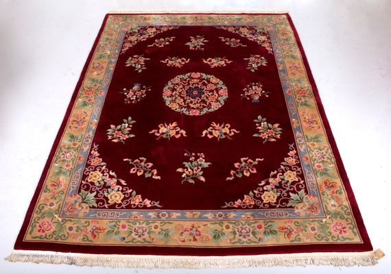 Large Chinese Wool Rug 1970s For