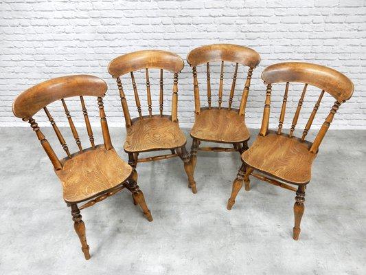 Antique Kitchen Chairs, Set of 4