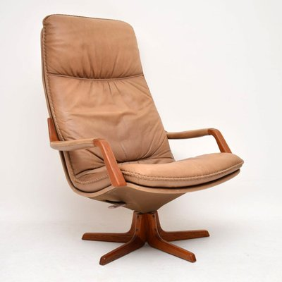 Groovy Danish Leather Teak Reclining Armchairs 1970S Set Of 2 Bralicious Painted Fabric Chair Ideas Braliciousco